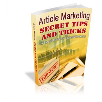 Article Marketing  Secret Tips & Tricks